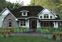 Craftsman House Plans / Our Collection of Craftsman Style homes are not only works of art but provide functional living spaces. They are characterized by their low sloping roof lines and deep porches. The beams typically are exposed with extensive use of wood throughout the home adding warmth and charm. Craftsman style homes range from affordable bungalows to spacious two-story estates. Browse our full collection at http://www.dfdhouseplans.com/plans/craftsman_house_plans/ / by DFD House Plans