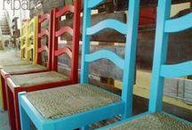 cadeiras farticos / amarelo   vermelho   azul