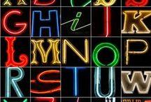 Neon Alphabet and vintage neon