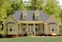 Farm House Plans with Front Porches / Check out these unique styles of fabulous farmhouses with beautiful front porches perfect for decorating.  Tell us how you would decorate these great porches for the Fall/Winter season. Get inspired by visiting our collection of Farmhouses: http://www.dfdhouseplans.com/plans/farm_house_plans/