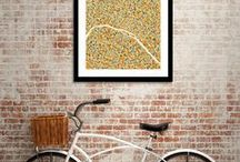 Maps And Cities / Are you a chic Parisian? A savvy New Yorker? A laid-back Angeleno? Or are over-generalized stereotypes ridiculous? Wherever your favorite city may be, show it some love with these wanderlust-provoking prints.