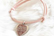 Personalised Jewellery / Our stunning range of personalised jewellery. All available to order from our website. Choose from different colours, sizes & styles. Beautiful keepsakes personalised to order.