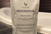 Stuff to Buy / Araman Calming Bath Soak - Epsom Salts with Pure Essential Lavender Oil
