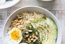 Bol repas ou bowls / Un repas végétarien et complet, dans un bol ou une assiette.