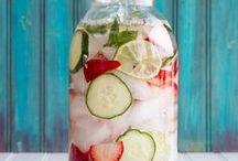 Eau detox / Eau aromatisée aux fruits.