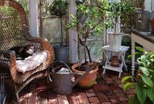 my dream sunporch would include / Where the boundary between indoors and outdoors is barely discernible!  #SunPorch #Sunroom #Backyard #Exterior #Garden #Lounge #Relax #Sunny #Plants #Gardening #GreenThumb #Agriculture #Reading #Comfy #Flowers #makesmewander