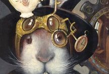 """Steampunk / A genre which came into prominence during the 1980s and early 1990s incorporating elements of science fiction, fantasy, alternate history, horror and speculative fiction.  My friend Lisa designs Steampunk """"wear"""".  Thank you Lisa for inspiring me!! / by Kim Harris"""
