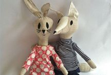 Fabric dolls and softies