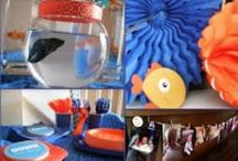 Goldfish Birthday Party Ideas / Great ideas from my son's recent goldfish first birthday party from Top Ate on Your Plate Blog / by Jen D. {Top Ate on Your Plate}