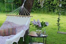 Lazy Backyard Hammock Days / Hammocks and backyard relaxing. / by Kim Harris