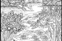 Colour Me Happy / Coloring pages for adults. / by Kim Harris