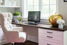 Home Office Ideas / Decorate your home office to make working from home more fun! Make money at home in a beautiful office space.