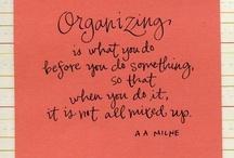 Organizing / by Robin Adams