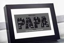 Idées cadeau fête des pères / Pas toujours facile de faire un cadeau à papa pour la fête des pères. Avec ces idées personnalisées, offrez un cadeau vraiment original qui lui fera plaisir à coup sûr !