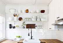 shelf styling - kitchen