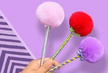 Sakox Lollypop Pens / Cute, Fuzzy... And In Every Color!