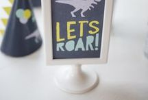 Dinosaur Birthday Party Ideas / Dinosaur party ideas including dinosuar party food, games, punch, decorations, invitations, favors, cakes, activities, and more!