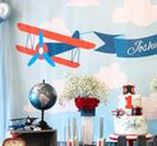 Airplane Birthday Party Ideas / Airplane birthday ideas including airplane birthday decor, airplane cakes, airplane printables, and other boy party ideas! See it all at karaspartyideas.com