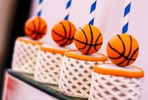 Sports Party Ideas / Decorations | Theme | Games | Slam Dunk | Food | Invitations | Centerpieces | Favors | Outfits | For Kids