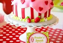 Strawberry Party Ideas / Decorations | Theme | Sprites | Food | Favors | For Kids | Cake | Invitations | Outfit | Games | Centerpiece | Printables