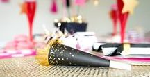 New Year's Eve Party Ideas / Great decor, food, drink, printable, and cake ideas for your New Year's Eve Party here at karaspartyideas.com