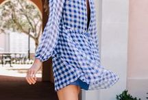 Gingham / Anything in a gingham print, the classic check.
