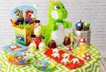 Mario Party Ideas / Decorations | Food | Games | How to Make | DIY | Super | Cake | Free Printable | Goodie Bags | Boys