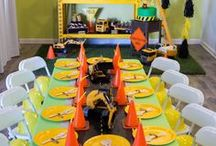 Construction Party Ideas / All the construction themed party ideas you could ever need! Construction themed decorations, props, games, favors, cakes, printables, and more!