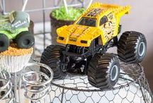 Truck / Monster Truck Party Ideas / Decorations | Food | Games | Favors | Cake | Invitations | Centerpieces | Printables | Blaze | Shirts | DIY