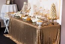 Gold + Sparkle Party Ideas / Golden Birthday | Black and Gold | Rose | DIY | Pink | Kids | Decor | Brides | Centerpieces | Twilight | Reception | Bridal Shower