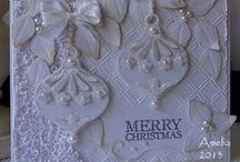 White Cards - 3 / White on White Greeting Cards (possibly a single highlight color)  / by Carol GoughLust