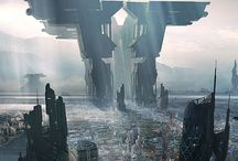 Paradise Lost / Sci-fi illustrations