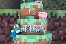 Minecraft Party Ideas / DIY | Decoration | Printables | Steve | Games | Food | Cake | For Boys | For Girls | Birthdays | Dollar Stores