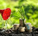 Homesteading: Income / Tips to earning extra money on your homestead. Ideas for farmers' market, lowering your utility bill, and saving money on groceries.