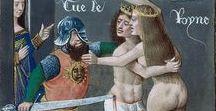 Boccaccio / Imágenes que evocan la visión de la Baja Edad Media que Boccaccio reflejó en sus obras.