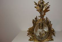 Antique Glass and metal/ Vintage perfume bottles / I collect OLD apothecary bottles, perfume bottles, bowls, vases,  etc.