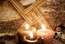 Imbolc February 2 / (Candlemas, Brigid's Day) Brigid is the Celtic goddess of fire and inspiration (Poetry, smithcraft and healing) as well as yet another representation of the Fertility of Femininity and Love.