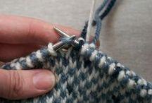Strikketeknikker / knitting teckniques
