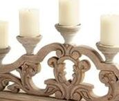 Candlesticks and Candleholders / Antique, vintage and new candlesticks and candleholders add a romantic atmosphere to a dining table or a bedroom. They also make wonderful gifts. Nobody can have too many candles!