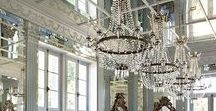 Crystal Chandeliers Bling / Crystal chandeliers add romantic sparkle to any space, as well as a heart-lifting bling and glamor! Whether you buy antique crystal chandeliers or new ones, be prepared to be dazzled with beauty.