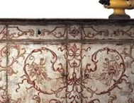 Painted Furniture / Painted furniture adds a touch of color to decor; distressed painted furniture creates a lot of character in a room by creating a sense of age. Hand-painted furniture includes Chinoiserie designs and other elegant antique-inspired painted finishes.