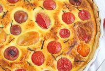 Recipes - quiches and savory bakes