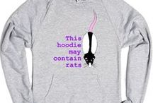 RATs - Fashion, Outfit / Rat love, Rat rules, Rat true and info t-shirt and hoodie, rat-mouse patternt bags...