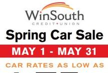May Spring Auto Sale 2015 / Check out our awesome Featured Dealers for rates as low as 1.75% May 1st-31st, 2015)            84 Month Car Loans NOW AVAILABLE! Credit Problems???  We have new financing options that may help you get in the car you need!! / by WinSouth Credit Union