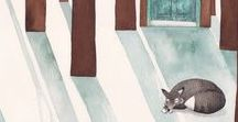 Animals & Art / Visit ArtisticMoods.com for more illustrative delight.