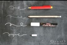 Chalkboard Crafts / Life is better with Chalk. Turn anything into a chalkboard with a little paint.  / by crafty texas girl