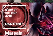 A  2015 PANTONE - MARSALA PALETTE WEDDING / Ideas for a Marsala,Bordeaux,Dark Cherry, Scarlet, Cranberry,Burgundy,Wine Colored Wedding  / by Susanna Piotrowski