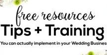 FREE Tips and Trainings to create a successful + profitable Wedding Business / FREE Tips and Trainings to create a successful + profitable Wedding Business