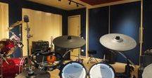 Home Studio - São Paulo - SP / Estúdio residencial de ensaios, execução completa de isolamento acústico, condicionamento acústico, studio design, móveis para estúdio, e outros