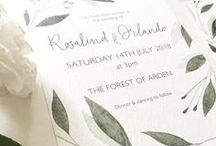 Wedding Stationery by Olive & Millicent / Hand painted wedding stationery, inspired by all things botanical and classic literature